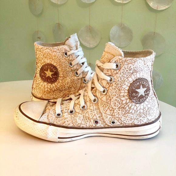 34dafbcbd4b0 Converse Shoes - RARE Converse Boho Snowflake Sparkle High Tops